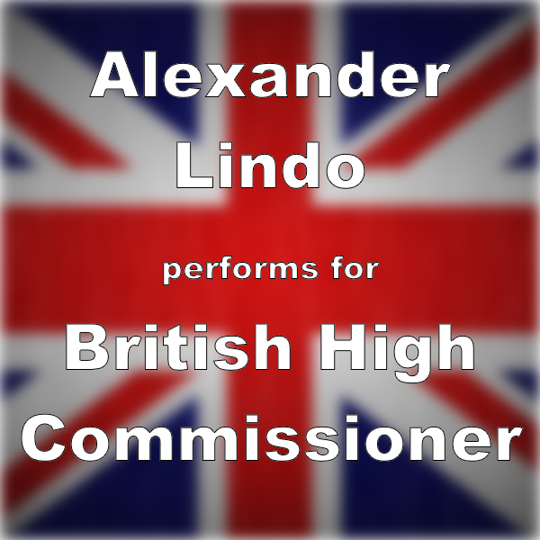 Alexander Lindo performs for British High Commissioner