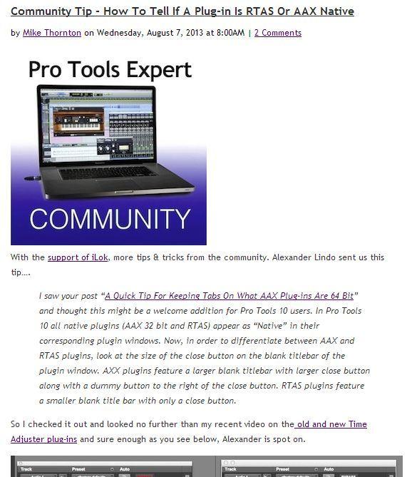 Pro Tools Expert: AAX vs RTAS in Pro Tools 10