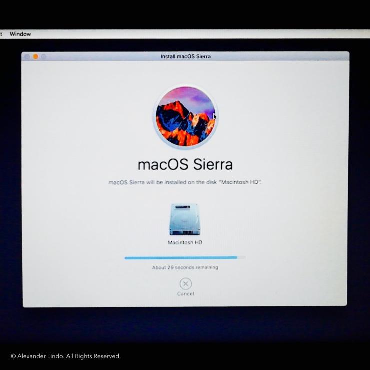 Installing macOS Sierra